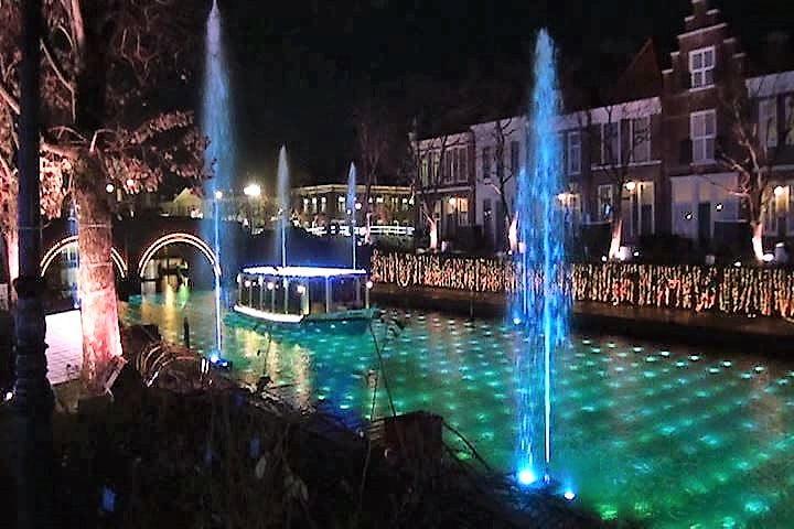 ハウステンボス 光の王国 光と噴水の運河ショー カップル インスタ映え