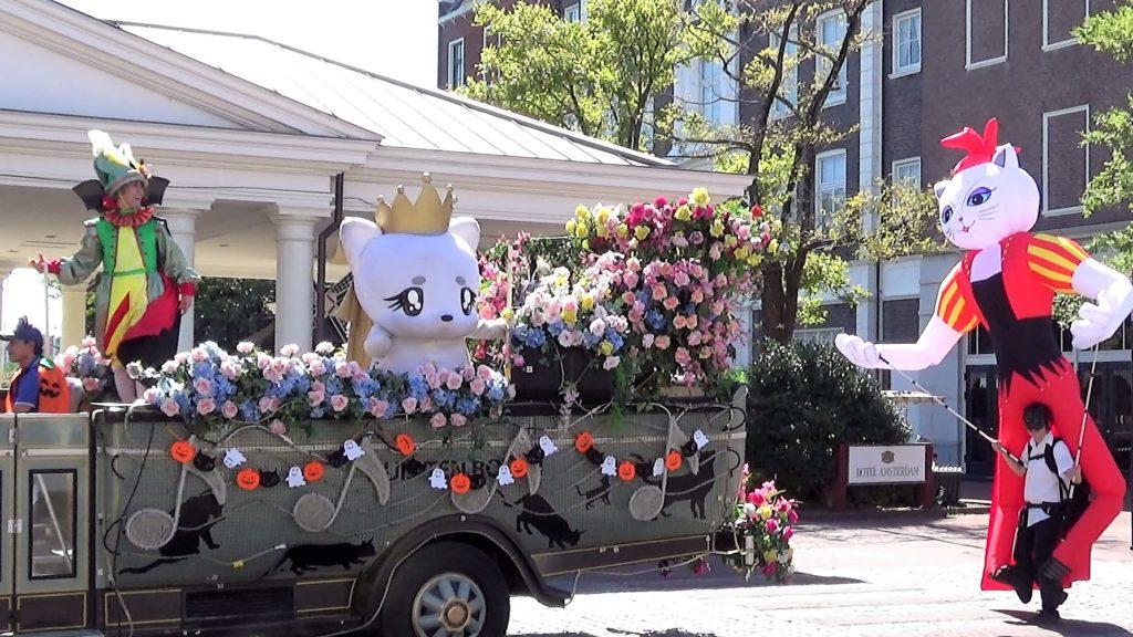 ハウステンボス ハロウィンキャットパレード 土日はミュージカル「ALICE」のプロモーション
