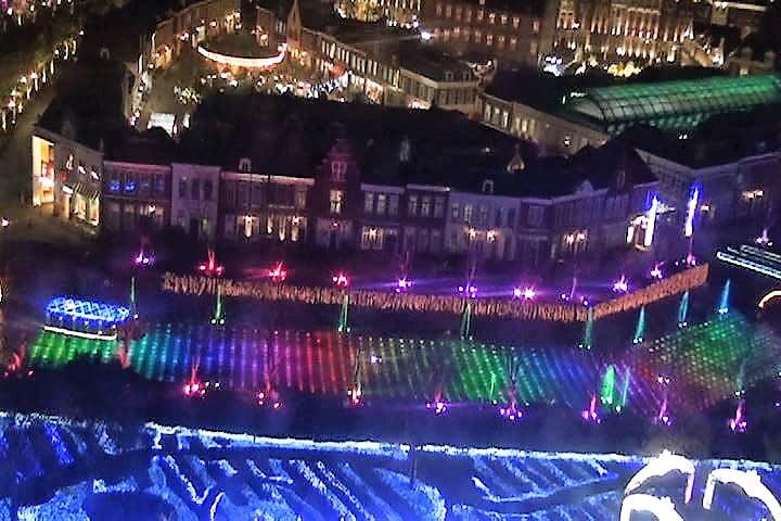 ハウステンボス 光の王国 光の観覧車から見た光と噴水の運河ショー インスタ映え