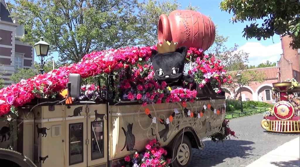 ハウステンボス ハロウィンキャットパレード受付け中のキラリ
