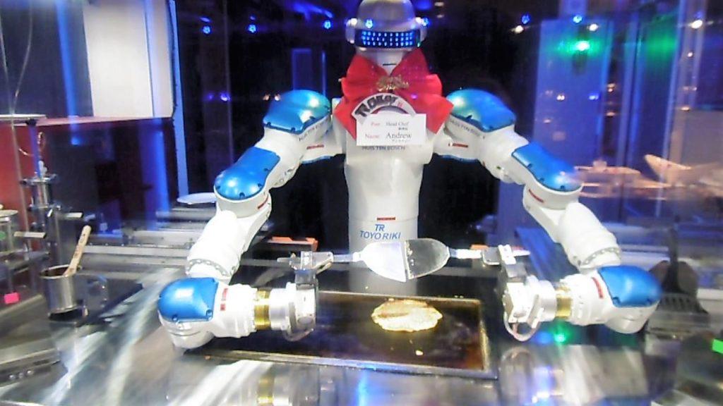 ハウステンボス 変なレストラン料理長のお好み焼きロボット