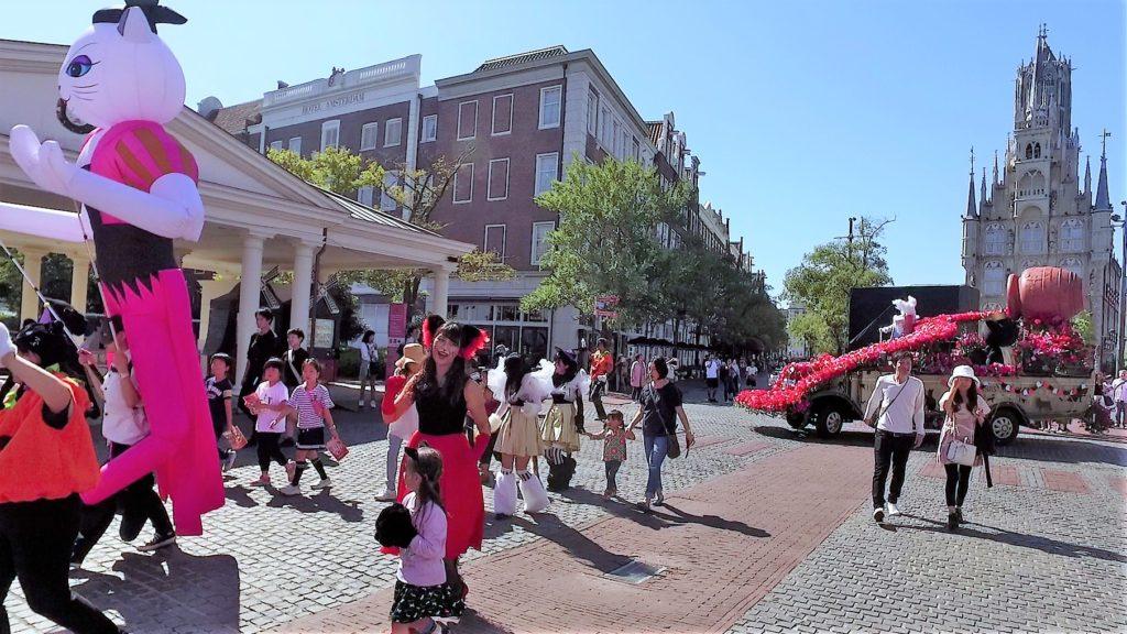 ハウステンボス ハロウィンキャットパレード 土日はコスプレキャットも参加