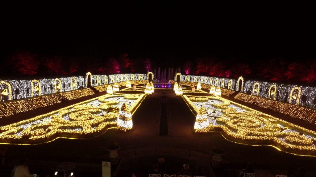 ハウステンボス 光の王国 回り方 パレスハウステンボスのイルミネーションショー