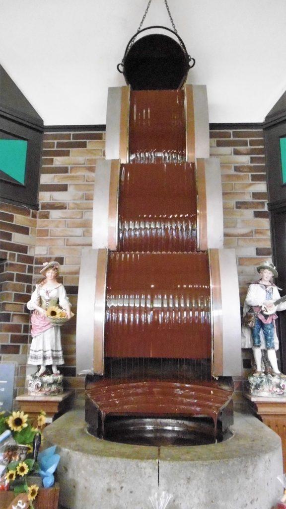 ハウステンボス アトラクションタウンのチョコレートハウスのチョコレートの滝