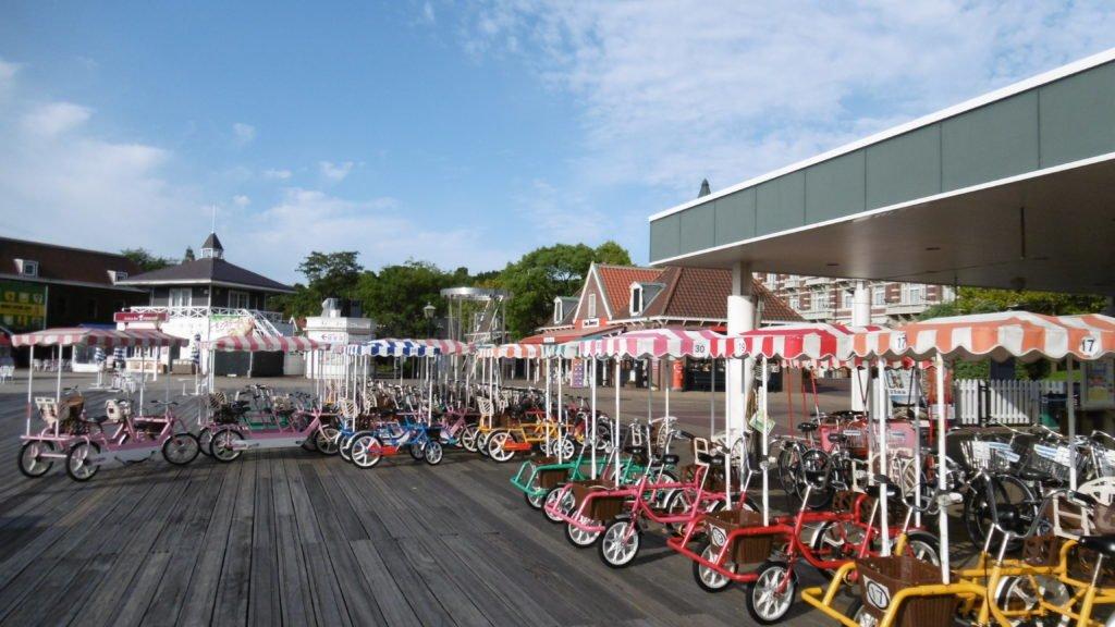 ハウステンボス フィッツでは自転車をレンタルできます