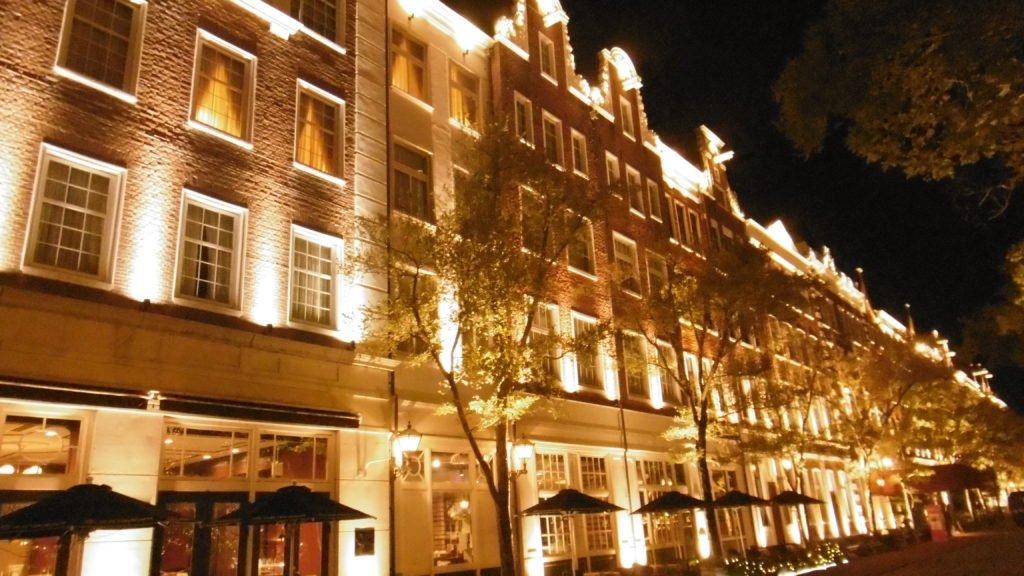 ハウステンボスのホテルアムステルダムのイルミネーション インスタ映え