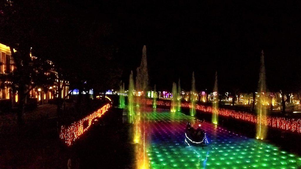 ハウステンボス、光と噴水の運河クルーズよりも、ゴンドラdeナイトクルーズの方がオススメ カップル インスタ映え
