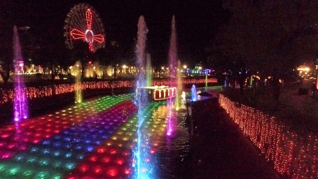 ハウステンボス 光の王国の回り方 光と噴水の運河ショー