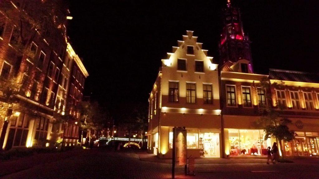 ハウステンボス ライトアップされたアムステルダムシティ