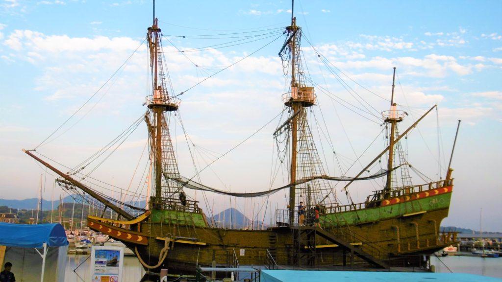 ハウステンボス 大村湾に浮かぶデリーフデ号 インスタ映え