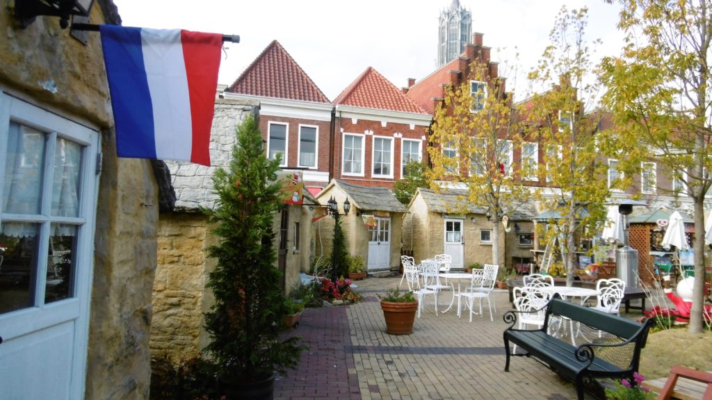 ハウステンボス アムステルダムシティのオープンカフェ、ヨーロピアンヴィレッジ