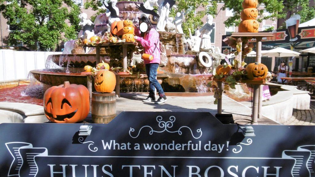 ハウステンボス ハロウィン中の噴水広場