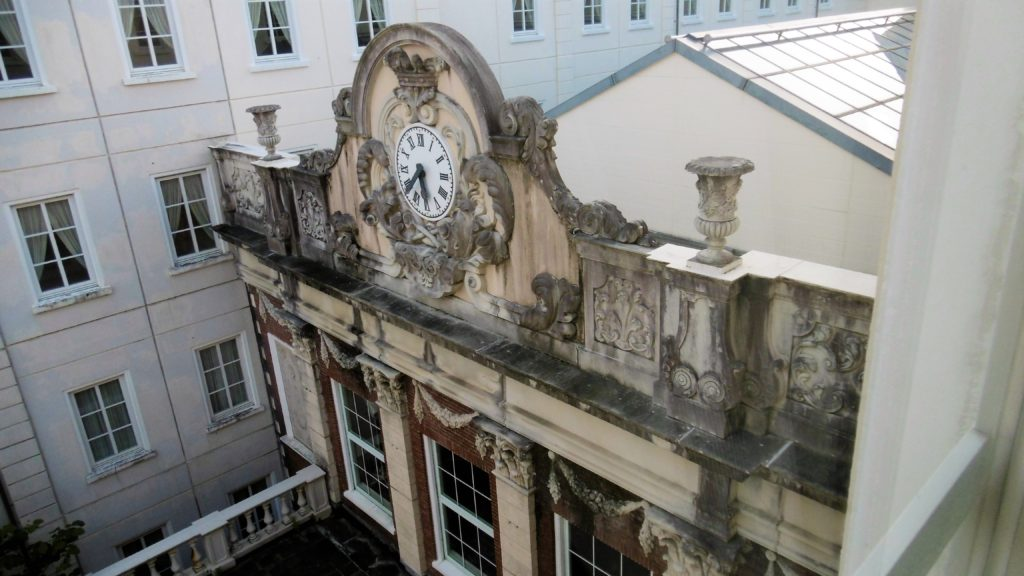 ハウステンボスのホテルアムステルダムの時計台