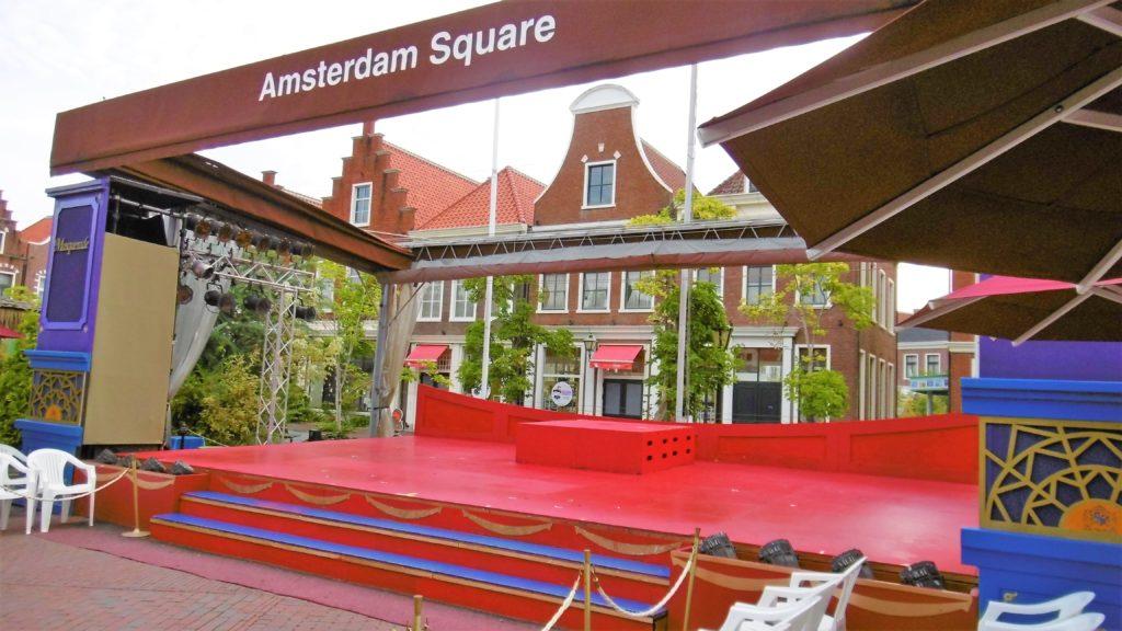 ハウステンボスのアムステルダム広場のステージ