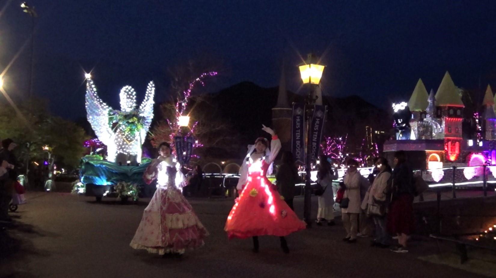 ハウステンボス 光の王国 回り方 光のパレード