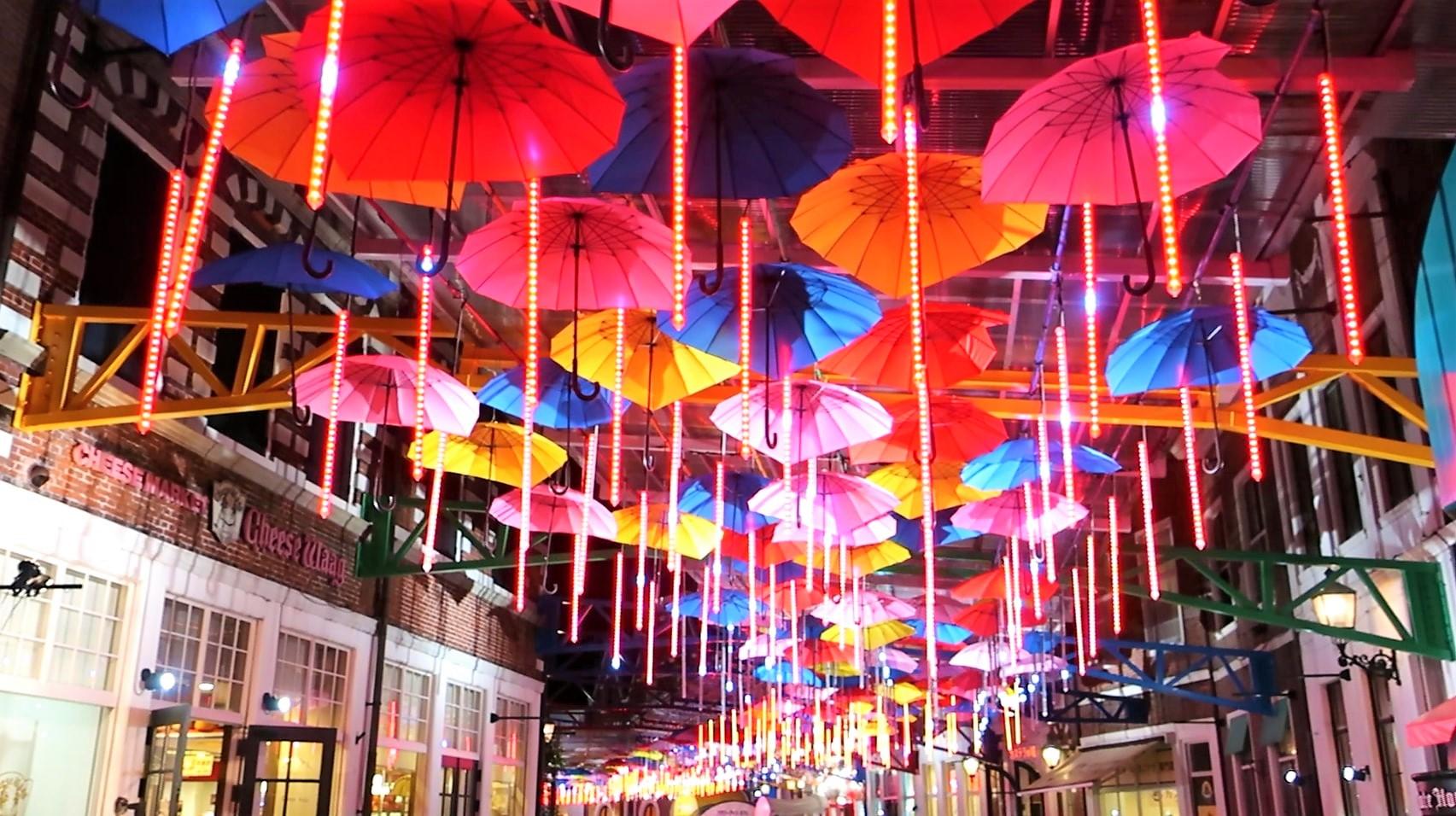 ハウステンボス 光の王国 回り方 光のアンブレラストリート